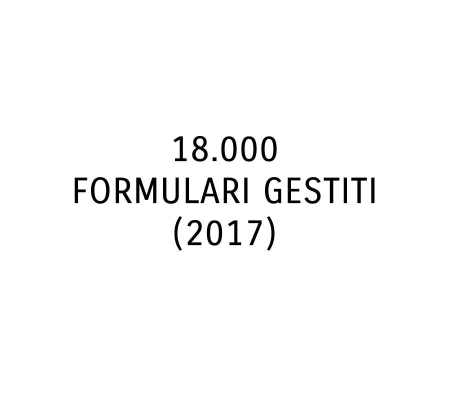 18.000 formulari gestiti (2017)